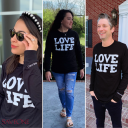 Love Life Black Long-Sleeve T-shirt